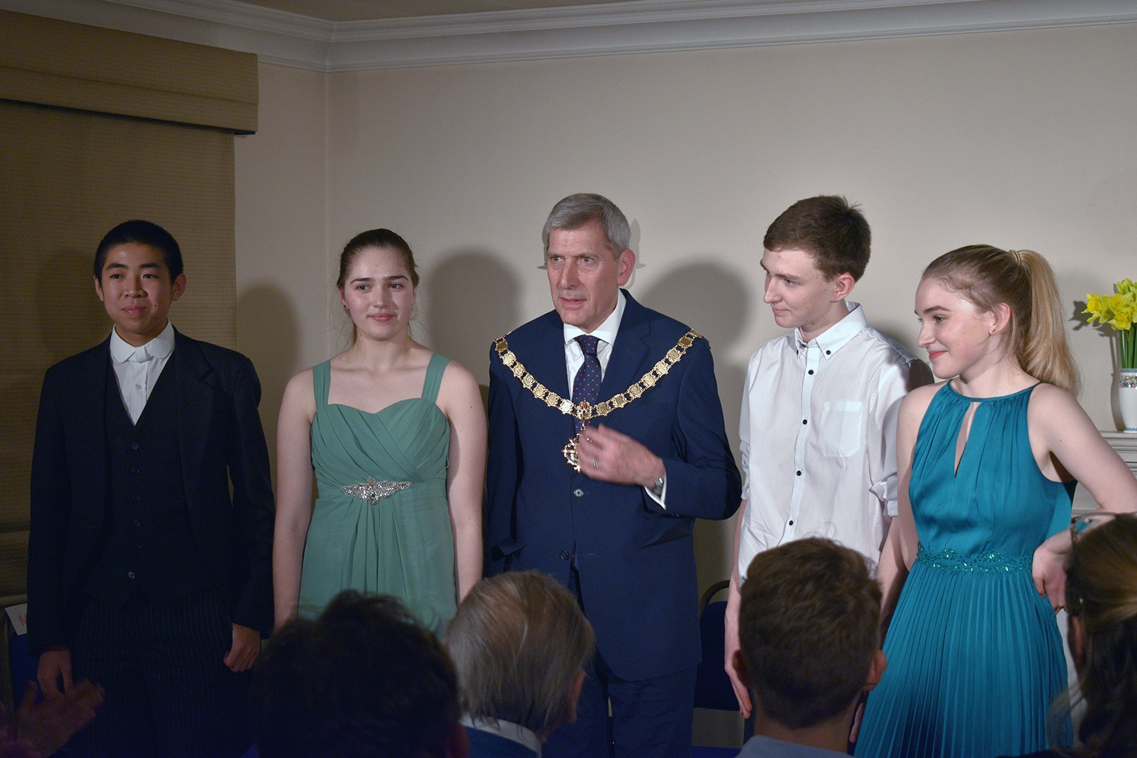2018 Local Young Performers with His Worship, the Mayor of Woking, Cllr Graham Cundy